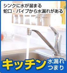 キッチンの水漏れ、つまり