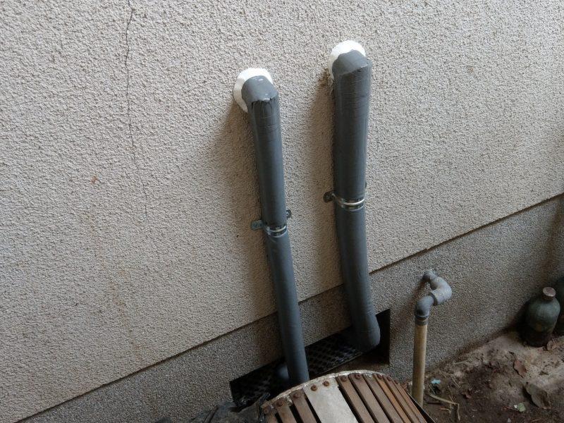 大阪市平野区水漏れ修理 台所給水菅、給湯菅切り替え工事