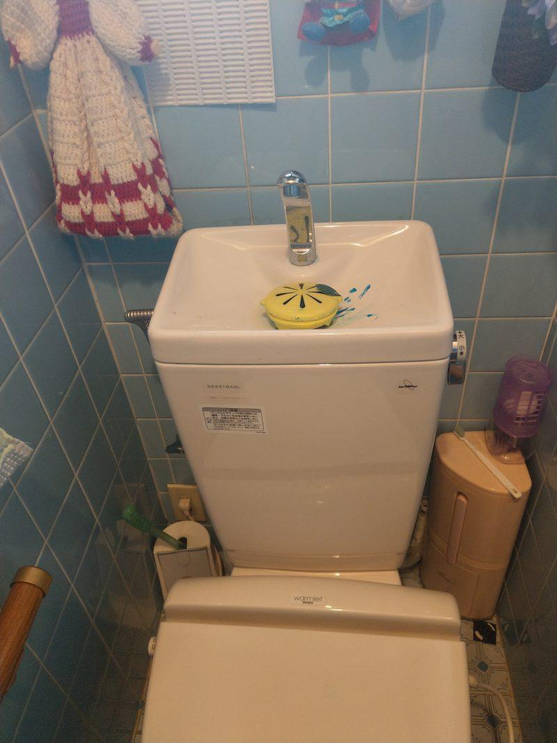 兵庫県川西市トイレ水漏れ修理 ボールタップ交換