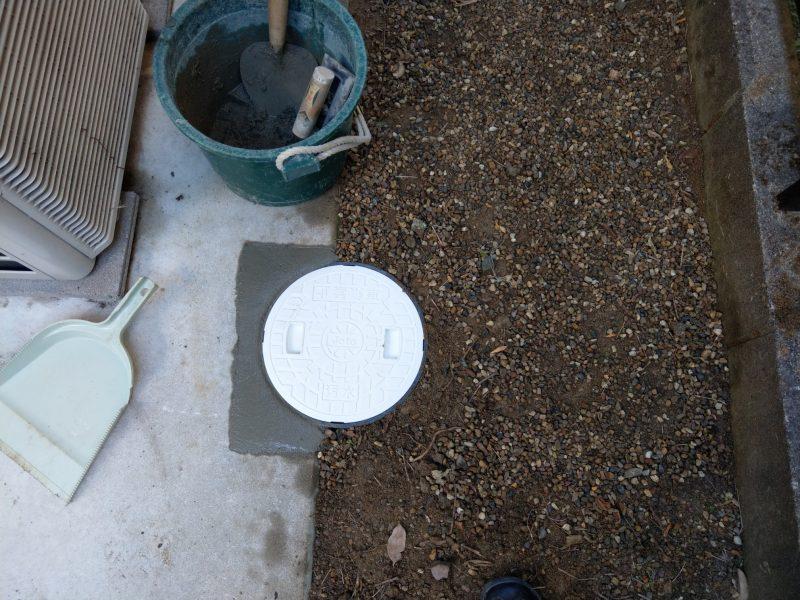 兵庫県川西市下水工事 コンクリートマス~エンビマスへの入れ替え工事