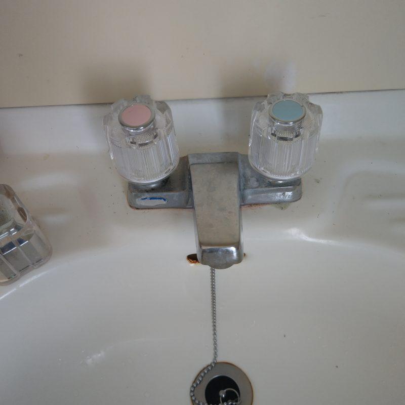 大阪府大阪市鶴見区放出洗面水漏れ修理スピンドル交換
