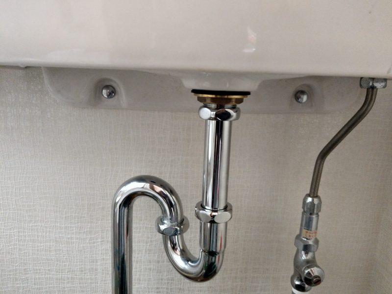 大阪府大阪市鶴見区徳庵でのトイレ手洗い排水パイプの水漏れ修理