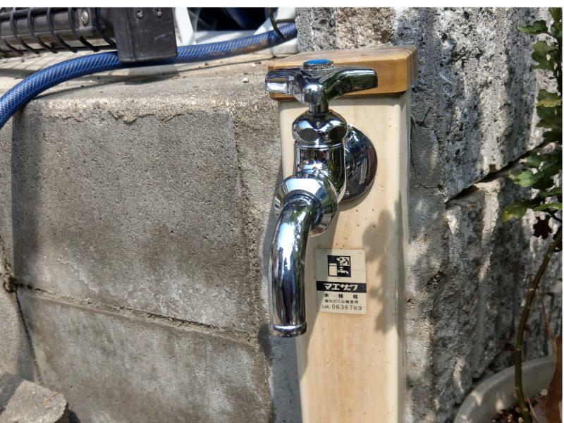 大阪市鶴見区今津中での蛇口水漏れ修理(水栓柱)