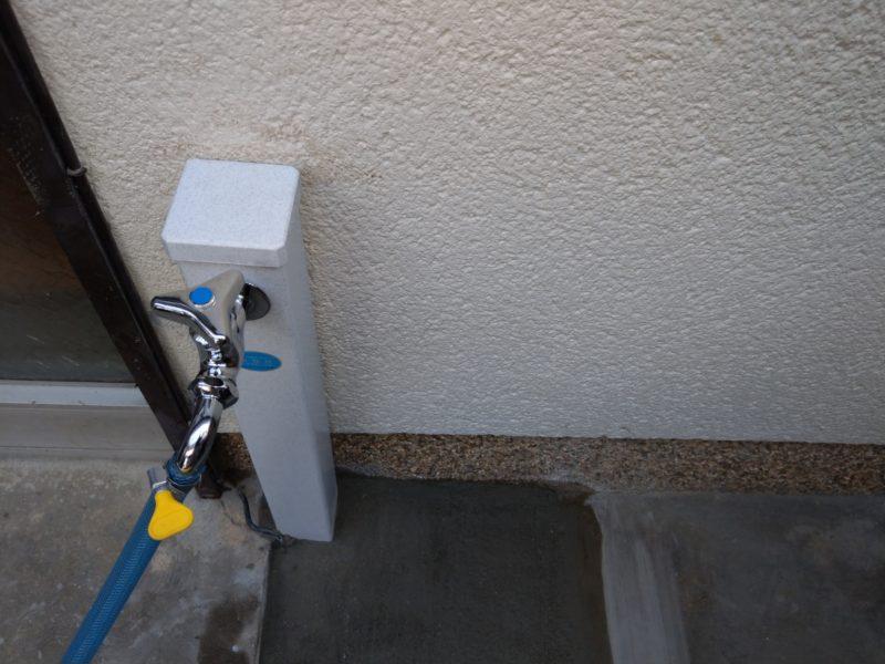 大阪府大阪市城東区鴫野西での外の蛇口の根元からの水漏れ修理の依頼