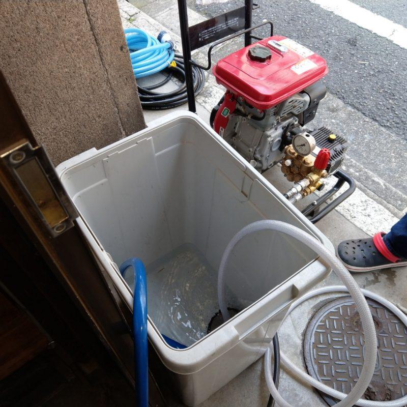 大阪府大阪市城東区諏訪でのトイレの流れが悪い依頼から高圧洗浄