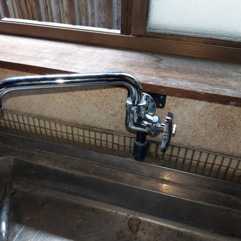 大阪府大阪市鶴見区徳庵での洗面蛇口根元からの水漏れ修理