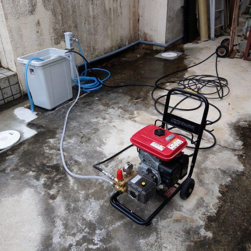 大阪府大阪市城東区蒲生での排水管高圧洗浄の依頼