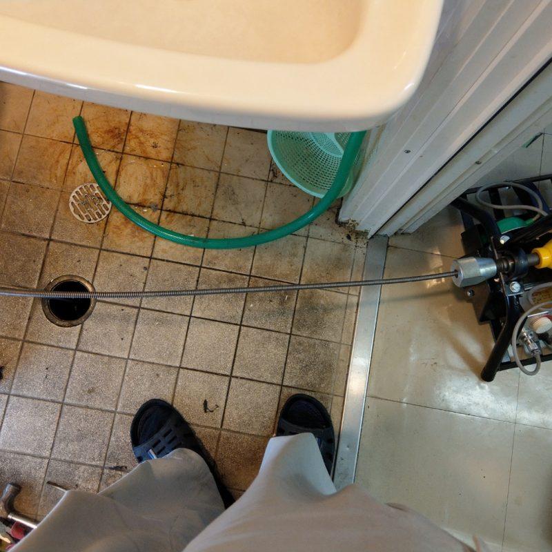 トイレ排水管詰まり除去の依頼(大阪府大阪市城東区蒲生)