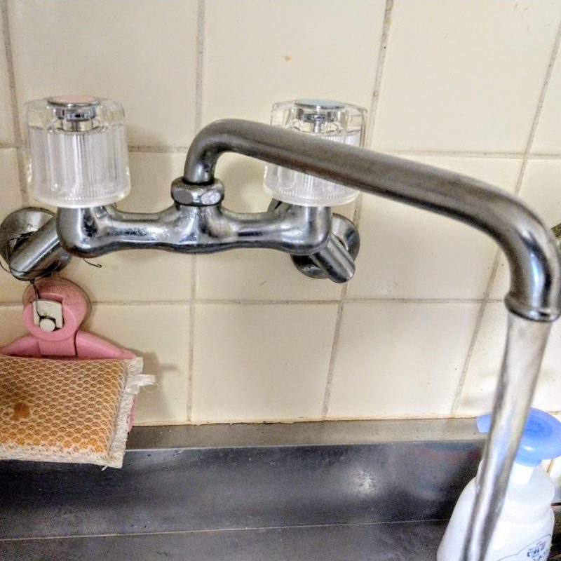 大阪市城東区成育での台所蛇口水漏れ修理の依頼