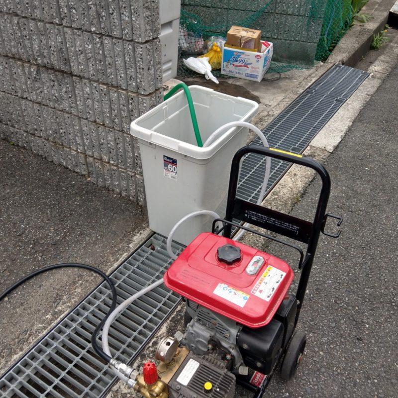 大阪府大阪市平野区出戸でのトイレ詰まりから高圧洗浄(マンション)