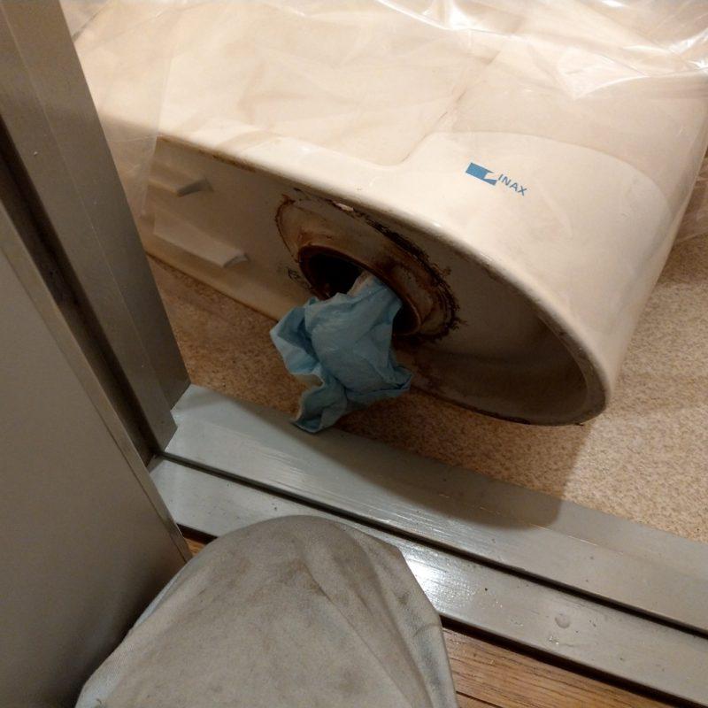 トイレが流れない(トイレ詰まり)の依頼 京都市下京区