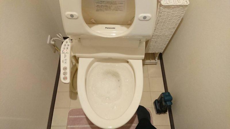 大阪府大阪市生野区南巽のマンションのトイレ排水詰まり