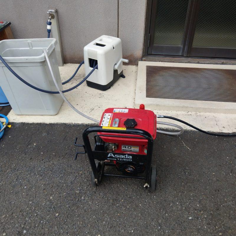 大阪府大阪市鶴見区今津北でのトイレ詰まりから高圧洗浄