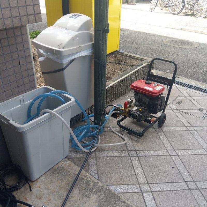 【マンション排水管詰まり】大阪府大阪市東成区中道での高圧洗浄とドレーンクリーナー