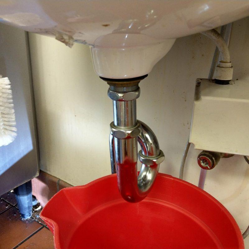 【飲食店水漏れ】手洗い排水パイプ水漏れ修理(大阪府大阪市生野区)