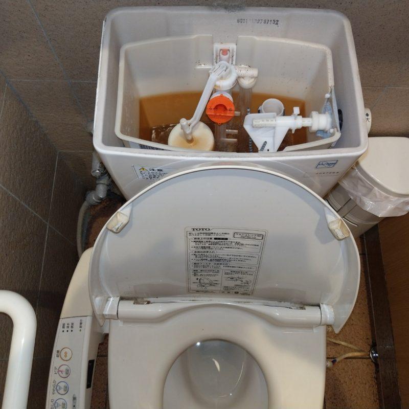 トイレ水が流れっぱなしになる依頼(大阪府大阪市鶴見区横堤)