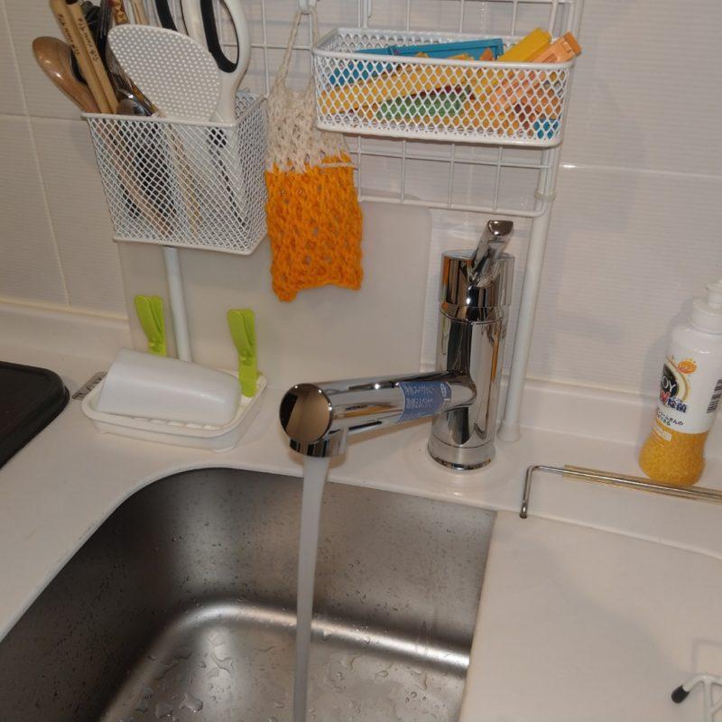 大阪府大阪市鶴見区諸口のマンションでの台所蛇口水漏れ修理からLIXILのSF-WM420SYXに蛇口交換