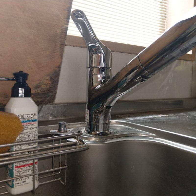 大阪府大阪市城東区天王田での台所蛇口水漏れ修理の依頼から台所蛇口交換