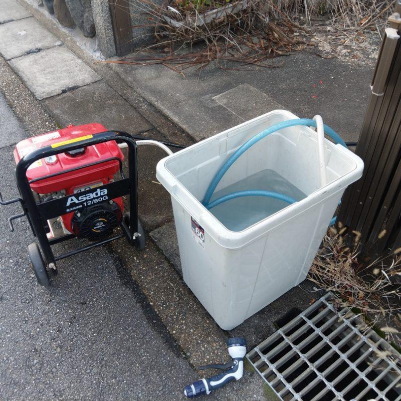 【高圧洗浄】トイレの排水管定期清掃(大阪府大阪市鶴見区放出東)